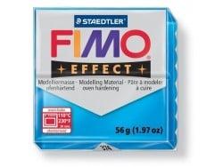 Pâte Fimo Translucide Bleu 374