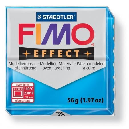 Pâte Fimo EFFECT Translucide Bleu 374 Fimo - 6