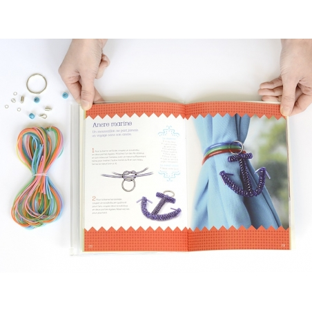 Livre Kit Ma pochette créative Scoubidous  Larousse - 3