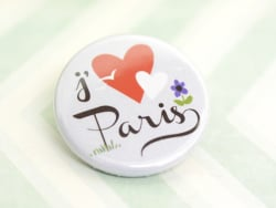 Badge j'aime Paris par fifi Mandirac