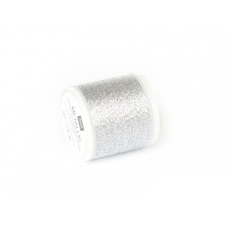 20 m bobbin embroidery thread - silver