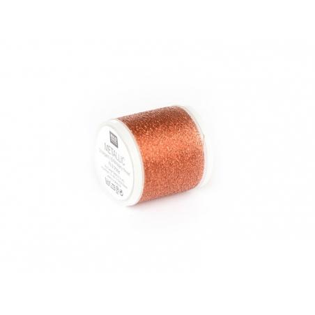 20 m bobbin embroidery thread - copper
