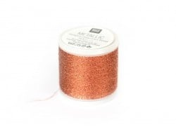 20 m bobbin embroidery thread - copper