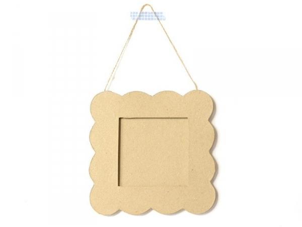 Cadre carré Petit beurre - papier mâché à customiser