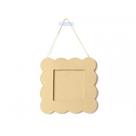 Square shortbread-shaped frame - papier mâché, customisable