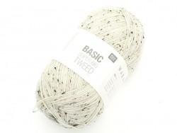 """Knitting wool - """"Basic - Supber big - Tweed"""" - Natural"""