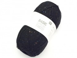 "Knitting wool - ""Basic - Supber big - Tweed"" - Black"