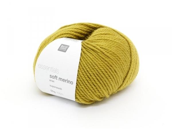 "Laine à tricoter ""Essentials soft merino"" - safran"