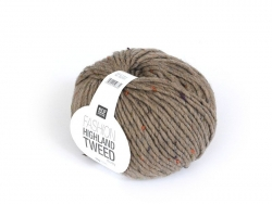 "Laine à tricoter ""Highland Tweed"" - Brun"