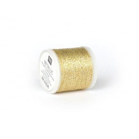Bobine 200 m de fil à broder - or