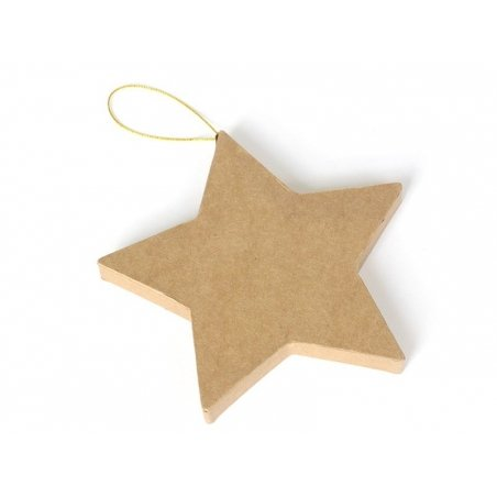 Star that can be hung on a wall - papier mâché, customisable
