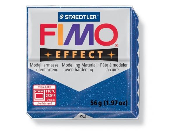 Fimo - glitter blue no. 302