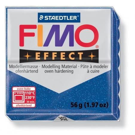 Pâte Fimo EFFECT Pailletée Bleu 302