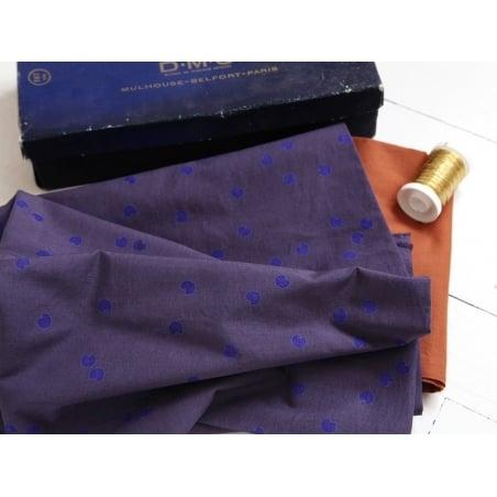"""Cosmic blue"" fabric - dots"