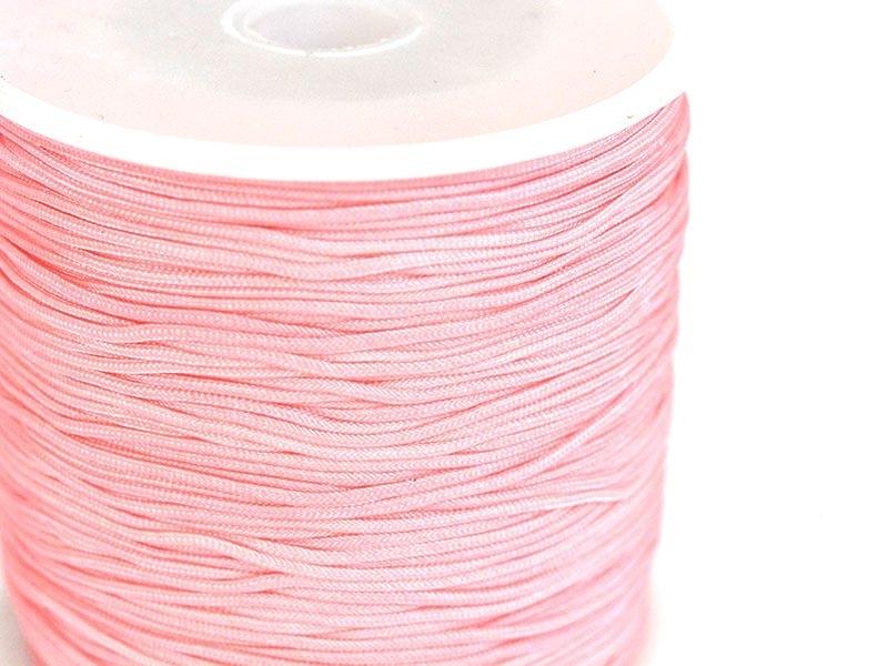 1 m de fil de jade / fil nylon tressé 1 mm - rose poudre