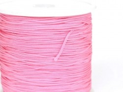 1 m of braided nylon cord (1 mm) - Cotton candy pink