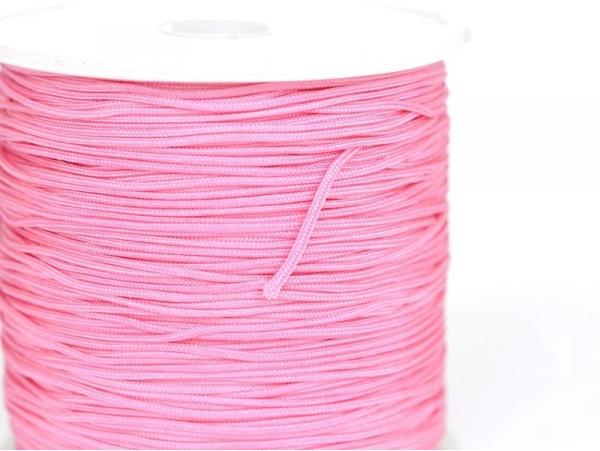 1 m de fil de jade / fil nylon tressé 1 mm - rose bubble gum