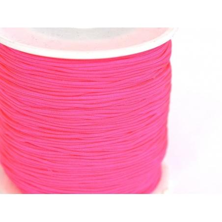 1 m de fil de jade / fil nylon tressé 1 mm - rose fluo  - 1