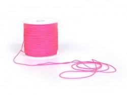 1 m de fil de jade / fil nylon tressé 1 mm - rose fluo