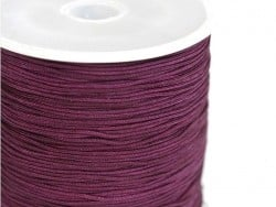 1 m of braided nylon cord (1 mm) - Plum