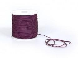 1 m de fil de jade / fil nylon tressé 1 mm - prune