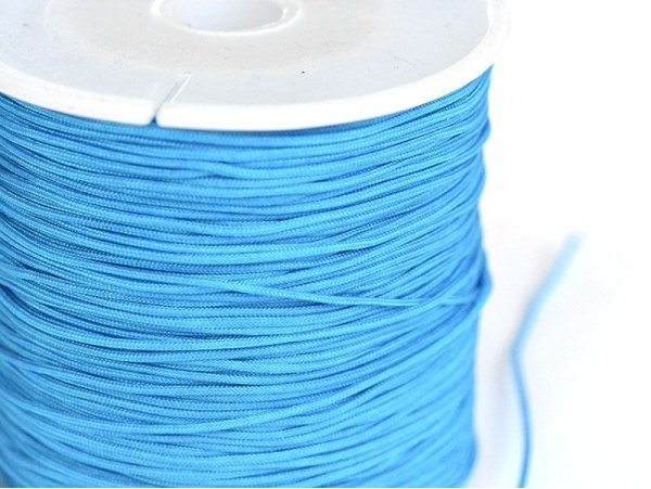 1 m of braided nylon cord (1 mm) - Turquoise
