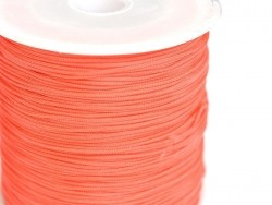 1 m of braided nylon cord (1 mm) - Coral red