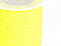 1 m of braided nylon cord (1 mm) - Neon yellow