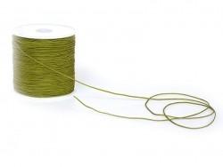 1 m de fil de jade / fil nylon tressé 1 mm - vert kaki