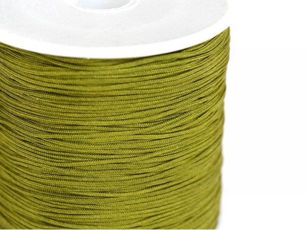 1 m of braided nylon cord (1 mm) - Khaki green