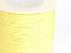 1 m de fil de jade / fil nylon tressé 1 mm - jaune paille