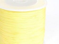 1 m of braided nylon cord (1 mm) - Straw yellow