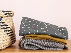 Tissu Like a Dandy - petits noeuds -  Atelier Brunette