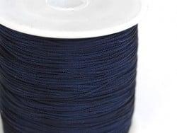 1 m de fil de jade / fil nylon tressé 1 mm - bleu nuit