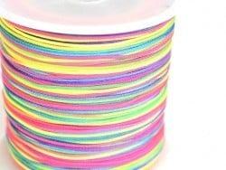 1 m de fil de jade / fil nylon tressé 1 mm - multicolore