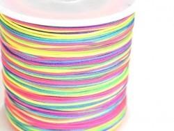 1 m of braided nylon cord (1 mm) - Multicoloured