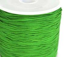 1 m of braided nylon cord (1 mm) - Grass green