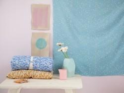 Tissu Shine Green/coral - Atelier Brunette