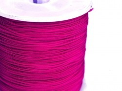 1 m of braided nylon cord (1 mm) - Indian pink