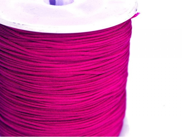 1 m de fil de jade / fil nylon tressé 1 mm - rose indien