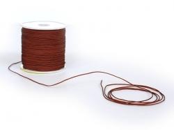 1 m geflochtene Nylonschnur (1 mm) - Cognacbraun