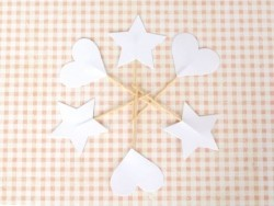 10 cupcake toppers - white hearts
