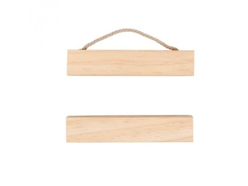 Wooden poster hanging rail kit - small