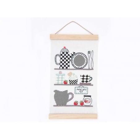 Acheter Kit de suspension en bois pour tissus - grand modèle - 9,80€ en ligne sur La Petite Epicerie - Loisirs créatifs