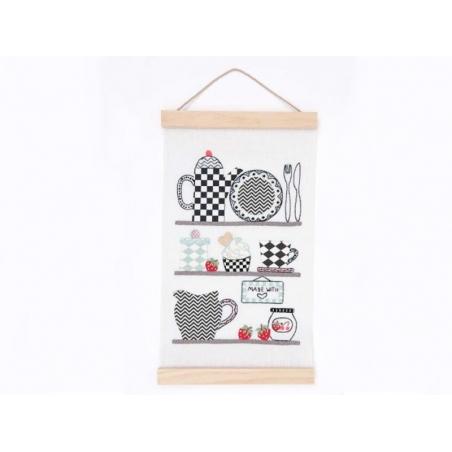 Wooden poster hanging rail kit - large