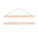 Kit de suspension en bois pour tissus - grand modèle