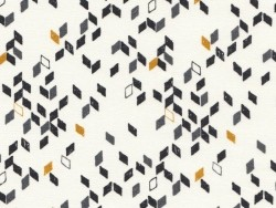 Fabric with a geometric design - Twist mustard