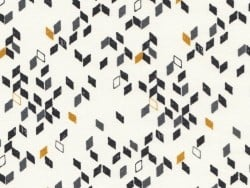 Tissu géométrique - Twist mustard