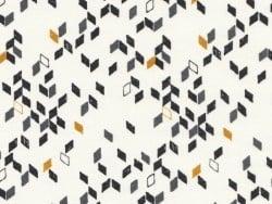 Tissu géométrique - Twist mustard  Atelier Brunette - 1