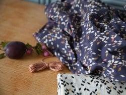 Tissu géométrique - Twist dark blue